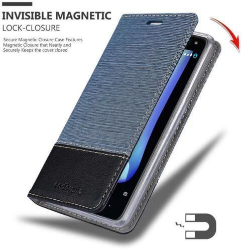 Funda de móvil para BQ Aquaris u2//u2 Lite cover case bolsa estuche tela jeans