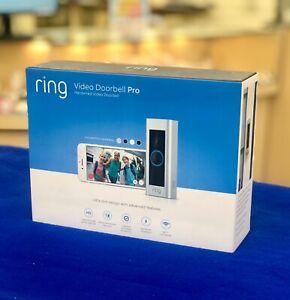 Ring-Video-Doorbell-Pro-Satin-Nickel-OPEN-BOX-NEVER-USED