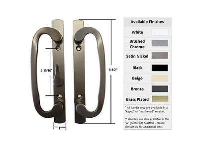 B-Position Non-Keyed Black Sash Controls Mortise Style Patio Handle