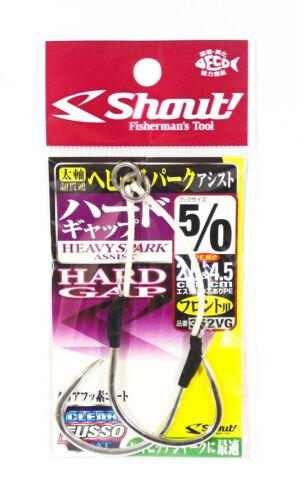 6088 Shout 352-VG Heavy Spark Hard Gap Assist Hook 2.5cm 4.5cm Size 5//0