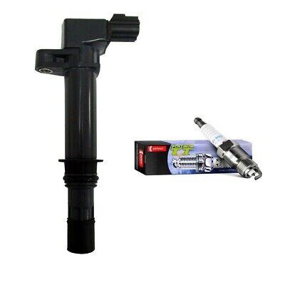 Set of 6 Denso 4505 Platinum TT Spark Plugs 6 Herko Ignition Coil For Infiniti