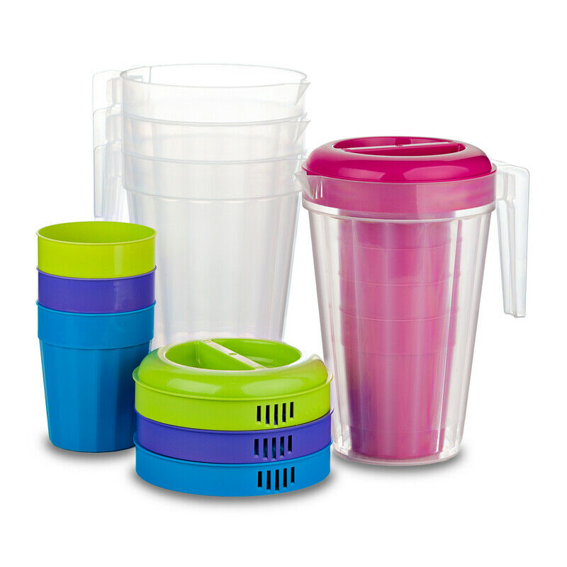 B and R  Assorted  Polyethylene  Fluted  Pitcher and Cup Set  1 pk