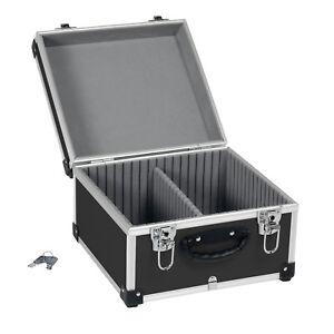 CD-Koffer-Alukoffer-Werkzeugkoffer-schwarz-40-CD-s-abschliessbar