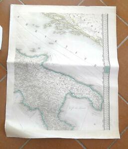 Mappa Nautica Puglia.Mappa Nautica Antica Calabria Puglia Marina Navigazione Nave Adriatico Lloyd Ebay