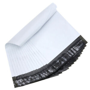 Details About Poly Mailer Plastic Shipping Bags Self Sealing 2 5 Mil White Premium