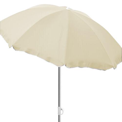 Runder Sonnenschirm Gartenschirm Schirm Sonnenschutz beige Ø1,80m knickbar UVSch
