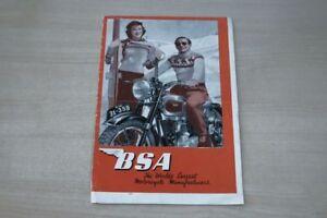 Amical 195373) Bsa-modèle Programme-prospectus 10/1950-afficher Le Titre D'origine