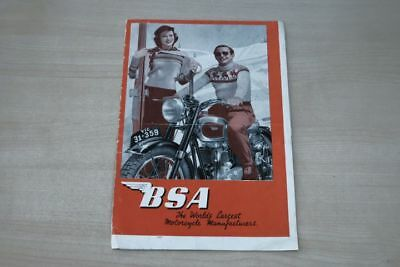 Modellprogramm 195373 Bsa Prospekt 10/1950 Low Price
