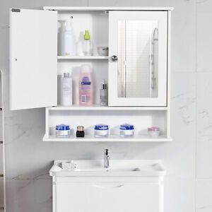 Large White Bathroom Cabinet Wall