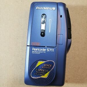 Olympus-Pearlcorder-S711-Microcasette-Voice-Recorder-Dictation-Machine