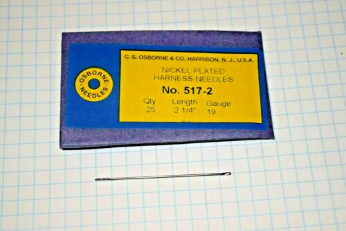 Straight Harness #517 Hand Sewing Needles blunt Pack of 25 3 Sizes