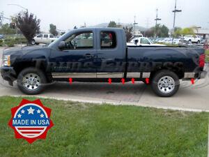2007-2013-Chevy-Silverado-Extended-Cab-6-5-039-Short-Bed-Rocker-Panel-Trim-14Pc-6-034