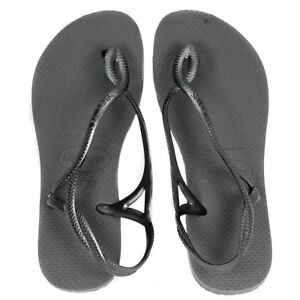 2484c86b0405 Image is loading Havaianas-Womens-Luna-Flip-Flop-Sandals-Steel-Grey