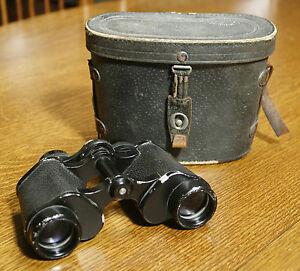 Vintage-HAMBLETONIAN-Binoculars-with-Leather-Case-8x30-Made-in-Japan-Nice