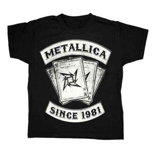 Rivenditore ufficiale dei Metallica nero della gioventù T-shirt