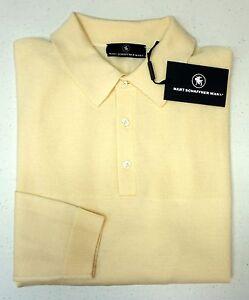 NWT-150-Hart-Schaffner-Marx-LS-Polo-Sweater-Mens-Size-M-100-Merino-Wool-Ivory