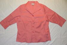 WOMENS 3/4 sleeve BLOUSE SHIRT top = COLDWATER CREEK = 1X = WH96
