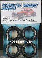 Amf-4 Asphalt Modified 15 Firestone 60s/70s Stock Car Tires - Ppp 1/25 - Lk