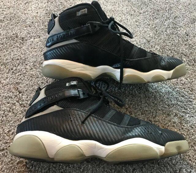 "outlet store 7511d 03bbe Nike Air Jordan 6 Rings ""Carbon Fiber"" Black/Medium Grey 322992-004 Mens  10.5"