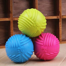 Cheap Dog Cats Play Rubber Ball Throw Pet Puppy Playing Fetch Chew Bite Toys New