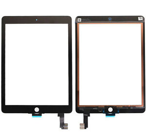 "GLS VETRO +TOUCH SCREEN NERO per APPLE IPAD AIR 2 9,7""  DISPLAY A1567 3G RICAMBI"