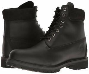 Men-039-s-Timberland-6-034-PREMIUM-WATERPROOF-BOOTS-TB010054-Multi-Sizes-Black-Smooth