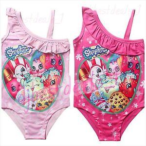 superior quality 100% quality quarantee meet Details about 2016 New Kids Girl's Cartoon Print Shopkins Swimsuit Bikini  Bathing Swimwear