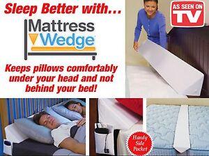 mattress wedge incline raise back support soft foam pillow twin