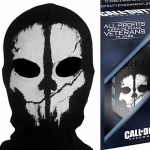 Adult Logan Ghost Full Face Mask Ski Hood Activision Call Of Duty
