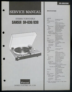 SANSUI-SR-636-SR-838-original-stereo-turntable-service-manual-Diagram-O153