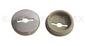 Bicycle-Crank-Square-Taper-JIS-Spindle-Dust-Caps-PAIR-CHROME-PLASTIC-NOS