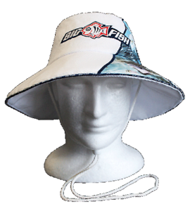 Bigfish Estuary Wide Brim Fishing Hat LgeXl White