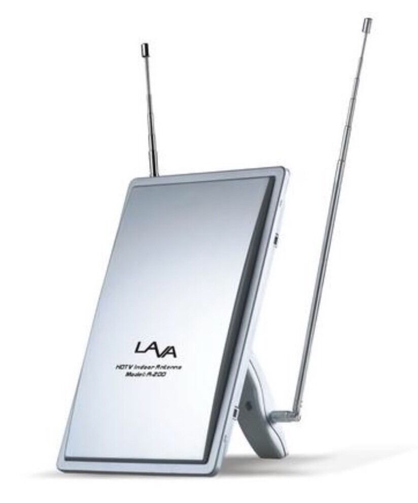 New Lava A-200 Indoor Home Digital TV Antenna VHF/UHF/FM Lavasat A200 HDTV. Available Now for 29.95