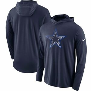 Dallas Cowboys Nike Performance Dri Blend Hooded Long Sleeve T-Shirt ... 60f7dfde7