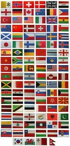 National Country Flag Patch Iron On Patch Sew On Embroidered Patch Country Flag
