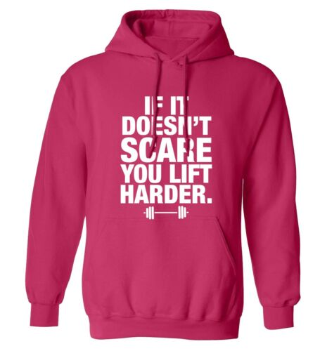lift harder hoodie sweatshirt gym weights muscles fitness body builder 5853