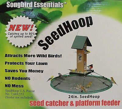 Bird Feeder Seed Catcher Seedhoop Platform for Hanging or Pole Mount Feeders
