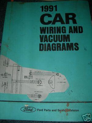 1991 ford tempo mercury topaz wiring vacuum manual huge | ebay 1991 ford tempo wiring diagram  ebay