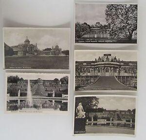 5x-alte-AK-Lot-POTSDAM-Brandenburg-Schloss-Castle-Sanssouci-1930-40-ungelaufen