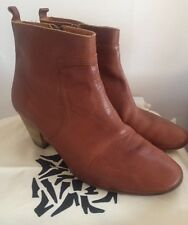 Isabel Marant SZ 41/11 Cognac Leather Dicker Ankle Boots Booties w Dust Bags Box