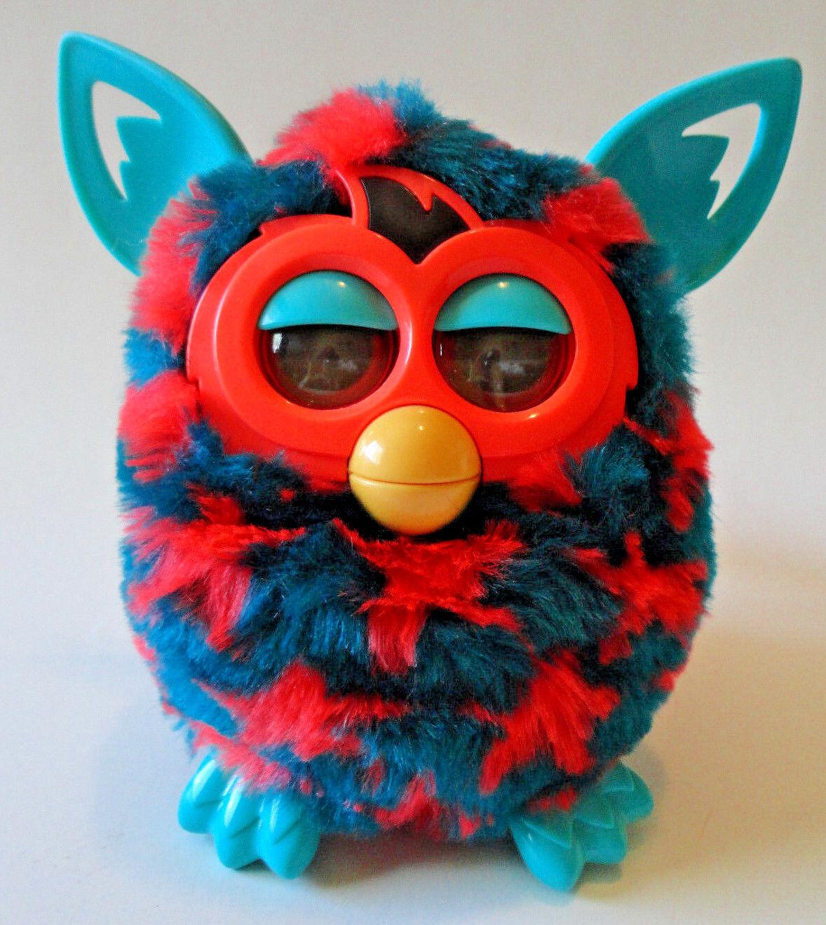 FURBY BOOM Hasbro {Red Stars bluee-Green Body} WORKS GREAT 2012
