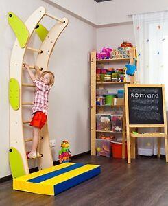 Ladder Kids Playground Set Indoor Sport Climbing Wall Gym