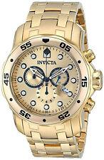 Invicta Reloj Gold Oro Hombre Man Steel Case Crystal Bracelet Pulsera Watch Arm