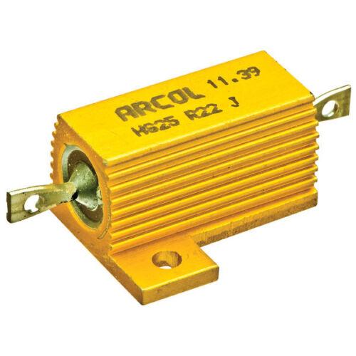 10 Ohm 25W Ohmite//Arcol Aluminum 5/% Mil-Spec Wirewound Resistor