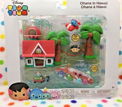 DisneyTsum Tsum Ohana in Hawaii Playset LILO & STITCHFree Shipping in USA