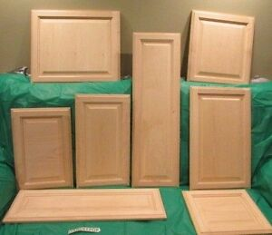 Solid Wood Maple Unfinished Raised Panel Kitchen Cabinet Door ...