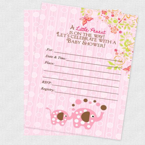 Elephant Baby Shower Invitations Decorations Jungle Invitation Invite Baby Girl