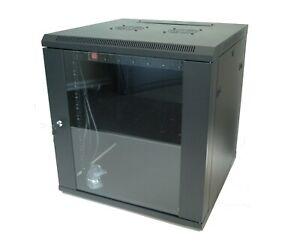 12U-x-600mm-Deep-Fully-Assembled-Hypertec-Wall-Mount-Data-Cabinet-PDU-amp-Shelf