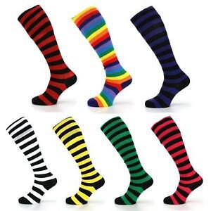 Long Knee High Striped Socks LoudElephant Wellies Boot Liner Stockings Stripy