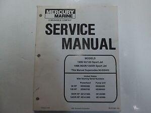 1995 96 mercury marine 90 120 95xr 120xr sport jet service manual rh ebay com Mercury Outboard Repair Manual 1999 Mercury Mountaineer
